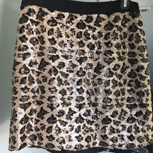 Banana Republic Sequin Leopard Skirt